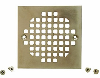 plumbest c6083bn brass square shower strainer cover brushed nickel
